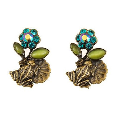 Frogs On Lily Pads Post Earrings | Nature Jewelry