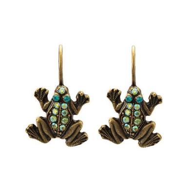 Frog Eurowire Earrings | Nature Jewelry