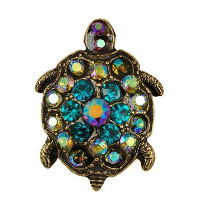 Turtle Leap Of Faith Pin | Nature Jewelry