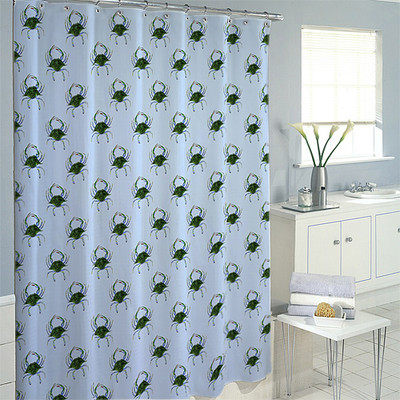 Multi Crab Shower Curtain