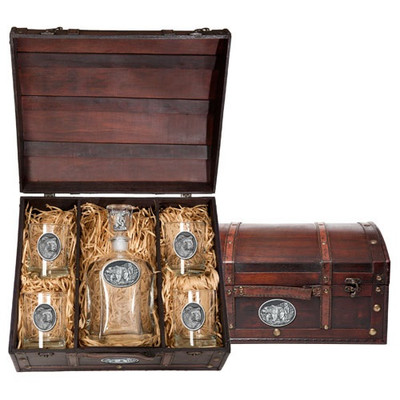 Grizzly Bear Decanter Chest