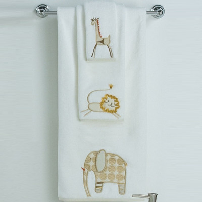 Quick Shop Animal Crackers Bath Towel Set