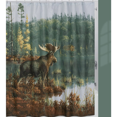 Back Bay Moose Shower Curtain