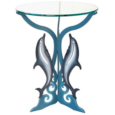 Dolphin Glasstop Table
