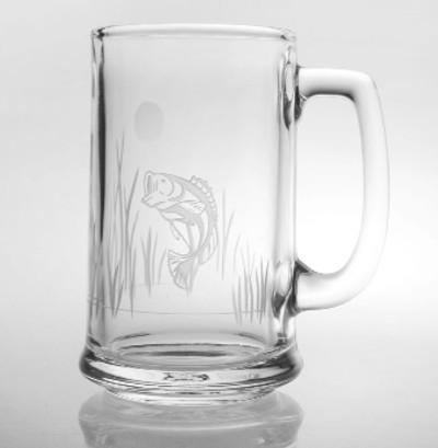 """Bass Beer Mug Set of 4 """"Lake Fish"""""""