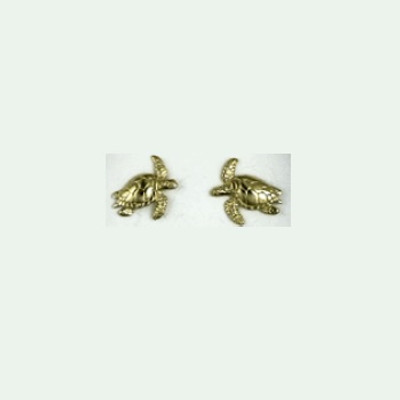 Turtle 14K Gold Post Earrings | Nature Jewelry