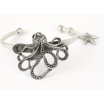 Octopus Cuff Bracelet | Nature Jewelry
