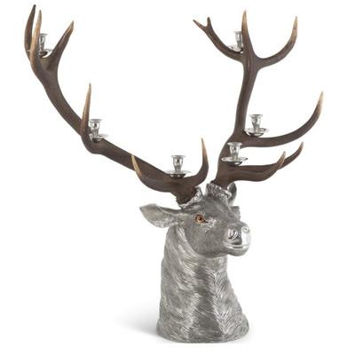 Elk Head Candlestick-6 Light
