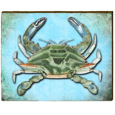 Blue Crab Wood Wall Art Art