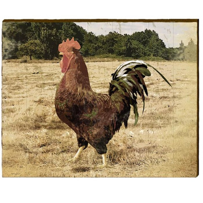 Rooster Wood Wall Art   Mill Wood Art   ROO1
