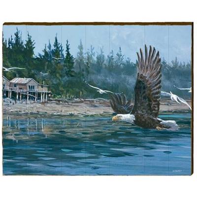 Eagle Wood Wall Art 30x24    Mill Wood Art   ZSOR1-30x24