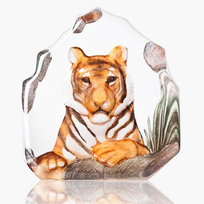Tiger Painted Crystal Sculpture | 34175