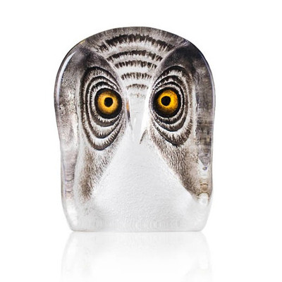 Owl Painted Crystal Sculpture | 34104