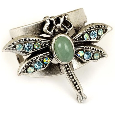 Dragonfly Oval Cabochon  Ring | Nature Jewelry