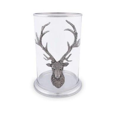 Elk Head Pillar Candle Holder