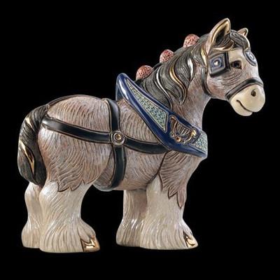 Horse Ceramic Figurine | Clydesdale | Rinconada