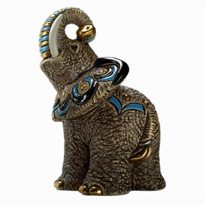 """Elephant Ceramic Figurine """"Samburu""""   Rinconada"""