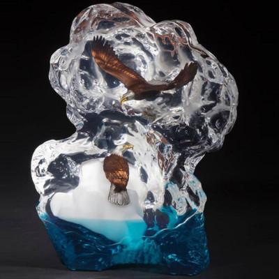 """Eagle Sculpture """"Glacial Voyage"""""""