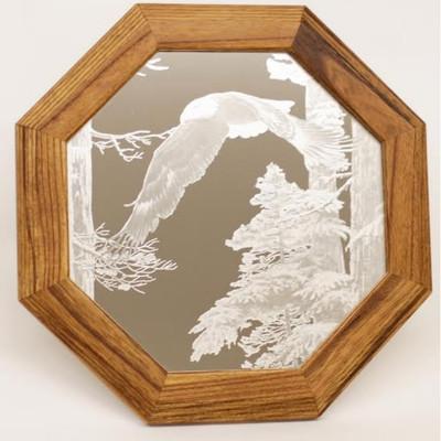 "Eagle Oak Mirror ""American Heritage"""