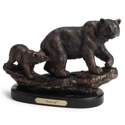 "Bear and Cub Sculpture ""Keep Up"""