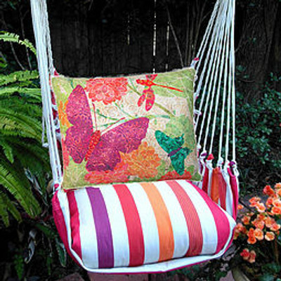 Butterfly Multi Striped Hammock Chair Swing