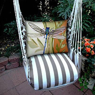 Dragonfly Striped Hammock Chair Swing