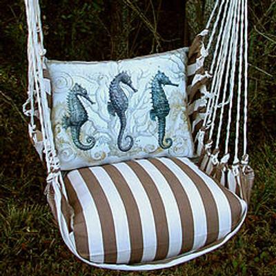 Seahorse Striped Hammock Chair Swing
