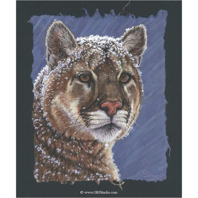 "Cougar Print ""Snow King"""