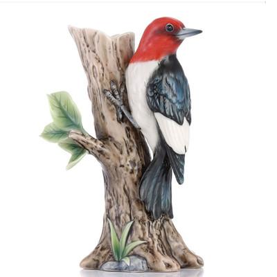Woodpecker Sculptured Porcelain Vase | FZ03436