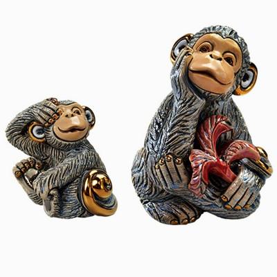 Monkey and Baby Ceramic Figurine Set | Rinconada