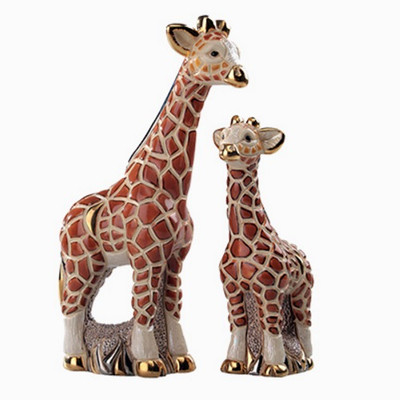 Giraffe and Baby Ceramic Figurine Set | Rinconada