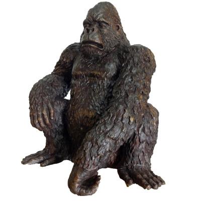 Gorilla Bronze Outdoor Statue | Metropolitan Galleries | SRB705248A
