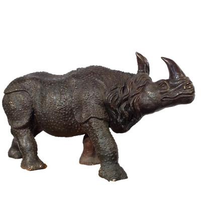 Rhinoceros Bronze Outdoor Statue