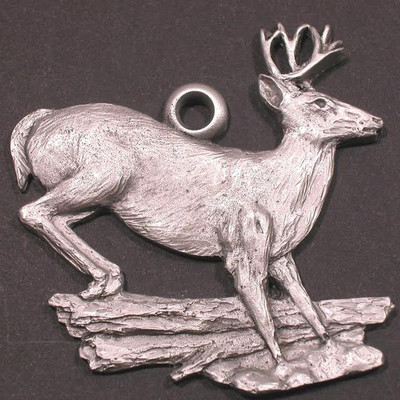 Whitetail Deer Pewter Ornament