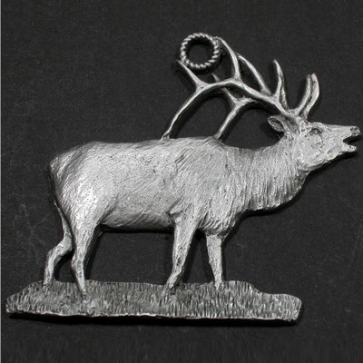 Elk Pewter Ornament