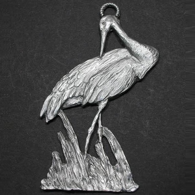 Sandhill Crane Pewter Ornament