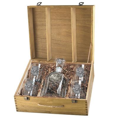 Cape Buffalo Decanter Boxed Set