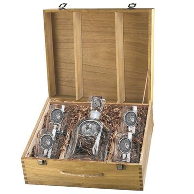 Lion Capitol Decanter Boxed Set