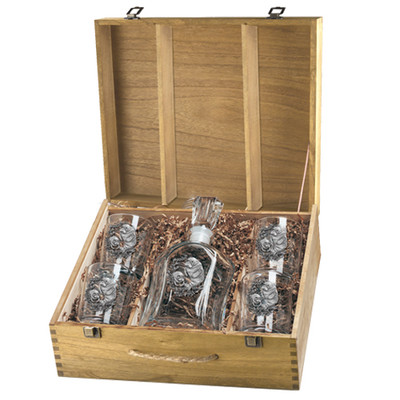 Manatee Capitol Decanter Boxed Set   Heritage Pewter   HPICPTB4110