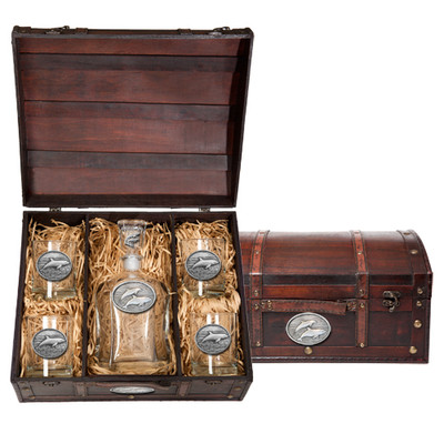 Dolphin Capitol Decanter Chest Set | Heritage Pewter | HPICPTC135