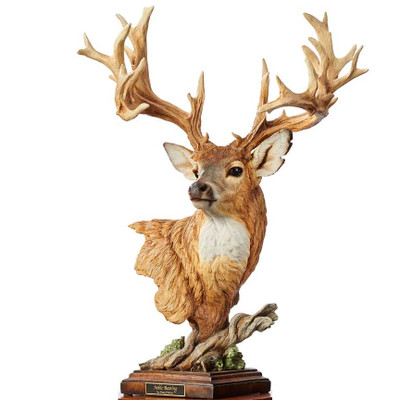 "Whitetail Deer Sculpture ""Noble Bearing"""