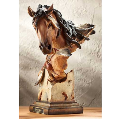 "Horse Sculpture ""Sunka Wakan"" War Pony"