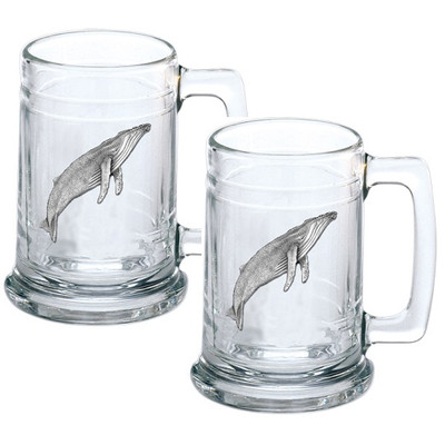 Humpback Whale Beer Stein Set of 2