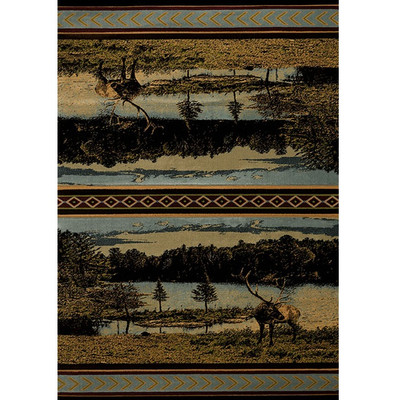 "Deer Area Rug ""Antler Lake"""
