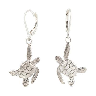 Sea Turtle Sterling Silver  Earrings | Nature Jewelry