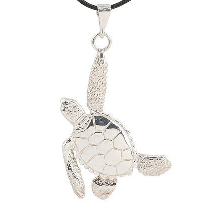Sea Turtle Sterling Silver Pendant Necklace | Nature Jewelry