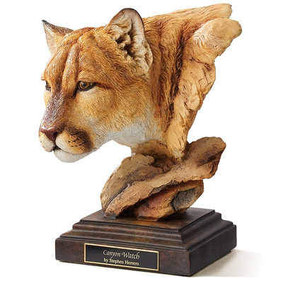 "Cougar Sculpture ""Canyon Watch"""