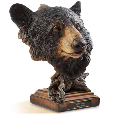 "Black Bear Sculpture ""Deep Woods"""