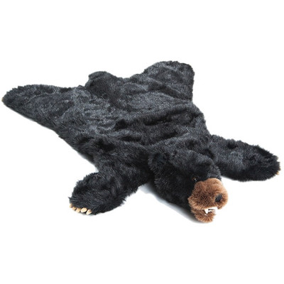 Black Bear Large Plush Rug