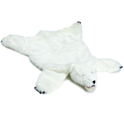 White Bear Large Plush Rug